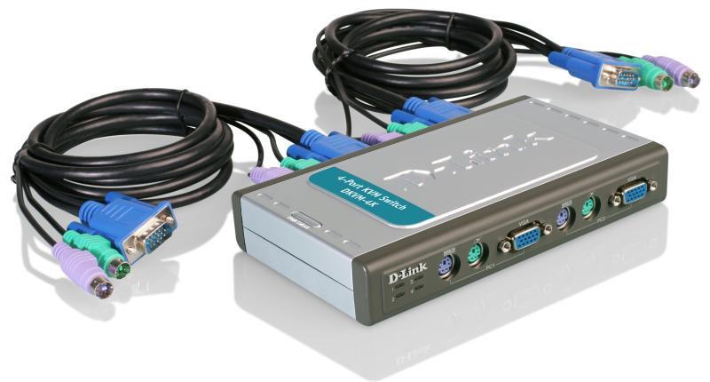 4-портовый KVM-переключатель D-LINK DKVM-4K