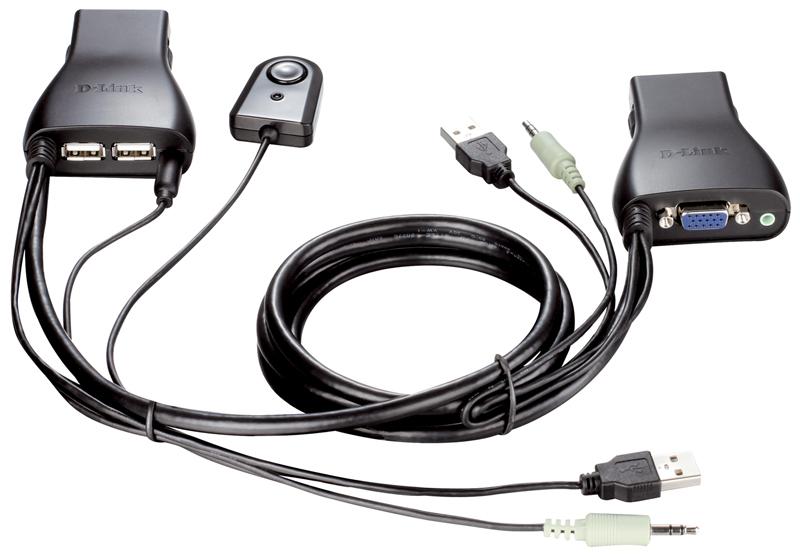 2-портовый KVM-переключатель с USB-разъёмами D-LINK KVM-221