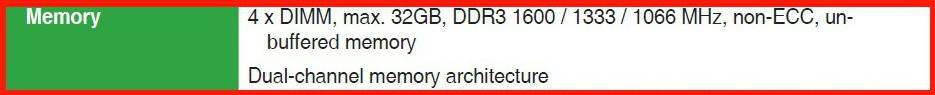 выбрать оперативную память по спецификации